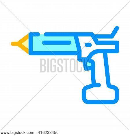 Cordless Sealant Gun Tool Color Icon Vector. Cordless Sealant Gun Tool Sign. Isolated Symbol Illustr
