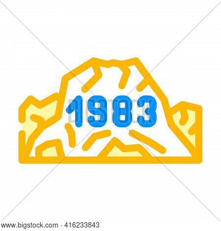 Date Of Last Eruption Color Icon Vector. Date Of Last Eruption Sign. Isolated Symbol Illustration