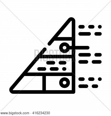 Pyramid Maslow Line Icon Vector. Pyramid Maslow Sign. Isolated Contour Symbol Black Illustration