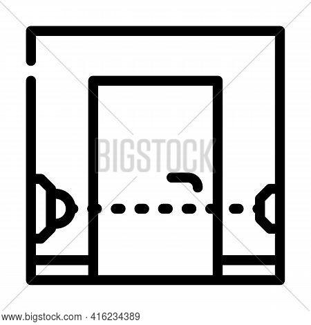 Beam Sensor Line Icon Vector. Beam Sensor Sign. Isolated Contour Symbol Black Illustration