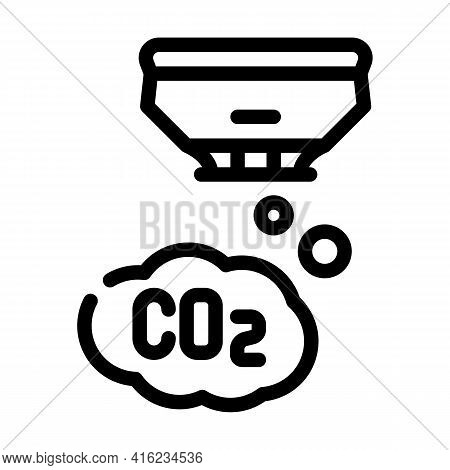Co2 Sensor Line Icon Vector. Co2 Sensor Sign. Isolated Contour Symbol Black Illustration