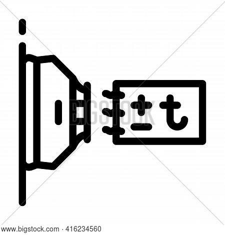 Thermal Sensor Line Icon Vector. Thermal Sensor Sign. Isolated Contour Symbol Black Illustration