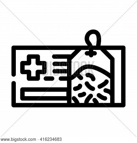 Healing Health Tea Line Icon Vector. Healing Health Tea Sign. Isolated Contour Symbol Black Illustra