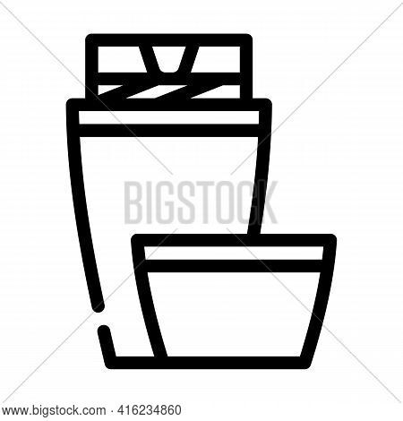 Thermos Tool Line Icon Vector. Thermos Tool Sign. Isolated Contour Symbol Black Illustration