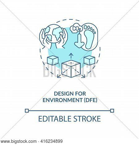 Design For Environment Concept Icon. E-waste Reduction Initiative Idea Thin Line Illustration. Hazar