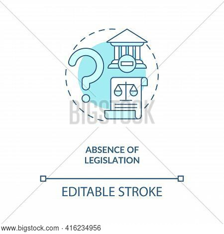 Legislation Absence Concept Icon. E-waste Management Challenge Idea Thin Line Illustration. Illegal