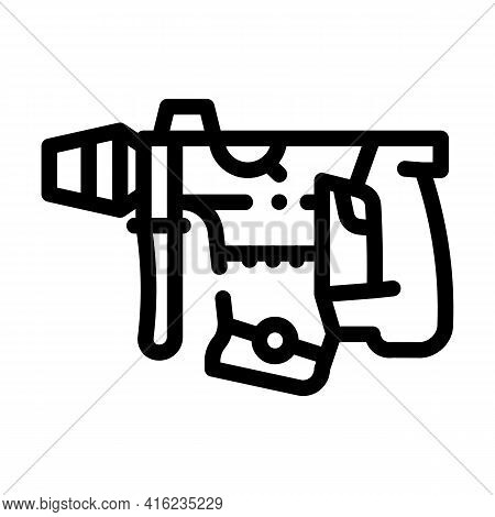 Perforator Tool Line Icon Vector. Perforator Tool Sign. Isolated Contour Symbol Black Illustration