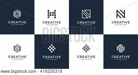 Letter N Logo Vector Design Collection For Branding Company. Logo Can Be Used For Icon, Brand, Ident