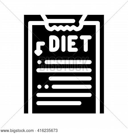 Description Diet Glyph Icon Vector. Description Diet Sign. Isolated Contour Symbol Black Illustratio