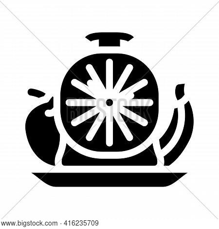 Food By Hour Glyph Icon Vector. Food By Hour Sign. Isolated Contour Symbol Black Illustration