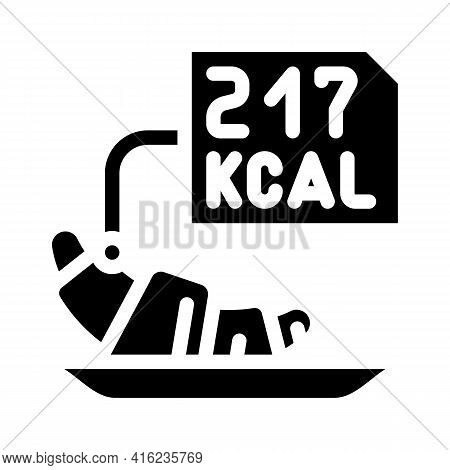 Calorie Counting Glyph Icon Vector. Calorie Counting Sign. Isolated Contour Symbol Black Illustratio