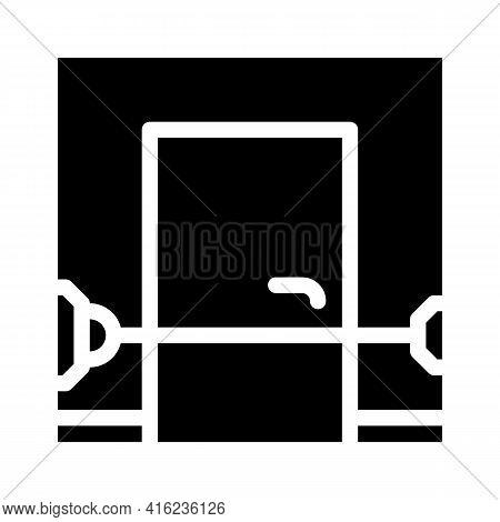 Beam Sensor Glyph Icon Vector. Beam Sensor Sign. Isolated Contour Symbol Black Illustration