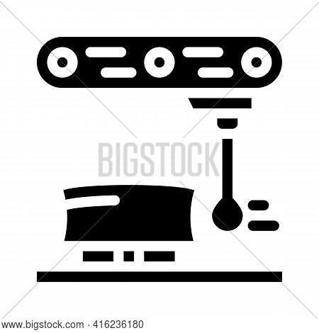 Dimension Gauge Glyph Icon Vector. Dimension Gauge Sign. Isolated Contour Symbol Black Illustration