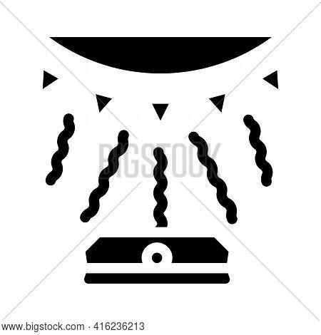 Light Sensor Glyph Icon Vector. Light Sensor Sign. Isolated Contour Symbol Black Illustration