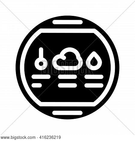 Thermohygrometer Tool Glyph Icon Vector. Thermohygrometer Tool Sign. Isolated Contour Symbol Black I