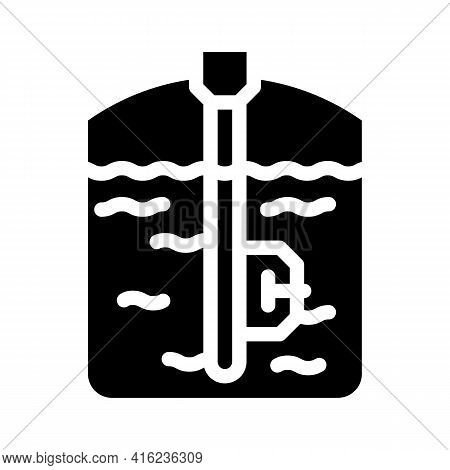 Capacitive Sensor Glyph Icon Vector. Capacitive Sensor Sign. Isolated Contour Symbol Black Illustrat