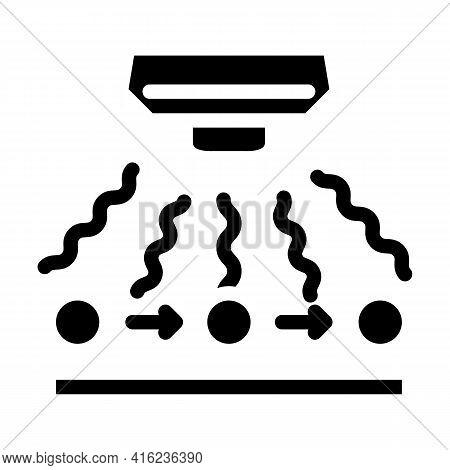 Radio Wave Sensor Glyph Icon Vector. Radio Wave Sensor Sign. Isolated Contour Symbol Black Illustrat