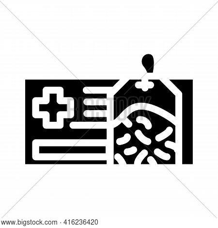 Healing Health Tea Glyph Icon Vector. Healing Health Tea Sign. Isolated Contour Symbol Black Illustr