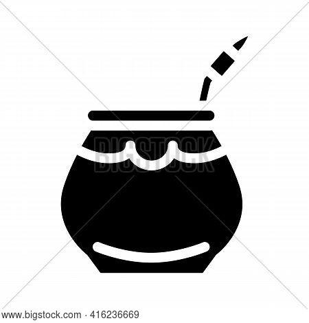 Mate Tea Glyph Icon Vector. Mate Tea Sign. Isolated Contour Symbol Black Illustration