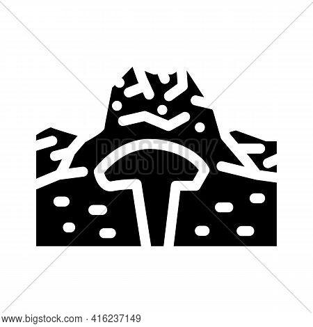 Lava Dome Glyph Icon Vector. Lava Dome Sign. Isolated Contour Symbol Black Illustration
