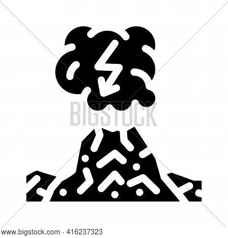 Dirty Thunderstorm Glyph Icon Vector. Dirty Thunderstorm Sign. Isolated Contour Symbol Black Illustr