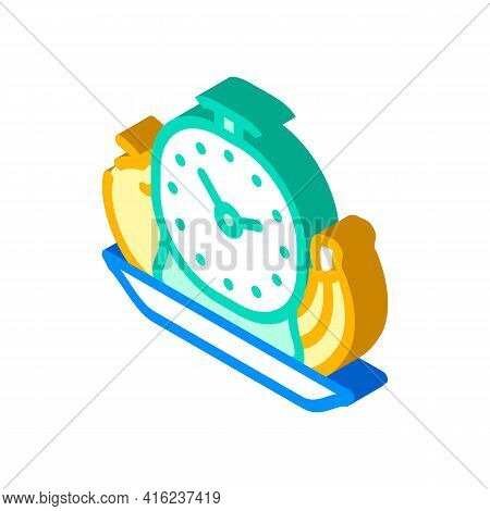 Food By Hour Isometric Icon Vector. Food By Hour Sign. Isolated Symbol Illustration