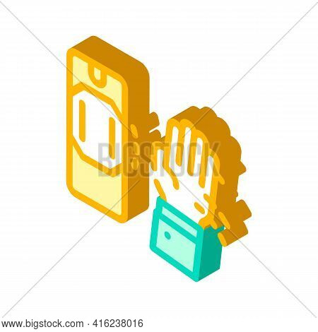 Motion Sensor Isometric Icon Vector. Motion Sensor Sign. Isolated Symbol Illustration
