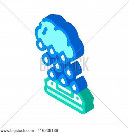 Rain Sensor Isometric Icon Vector. Rain Sensor Sign. Isolated Symbol Illustration