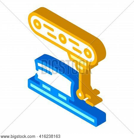 Dimension Gauge Isometric Icon Vector. Dimension Gauge Sign. Isolated Symbol Illustration