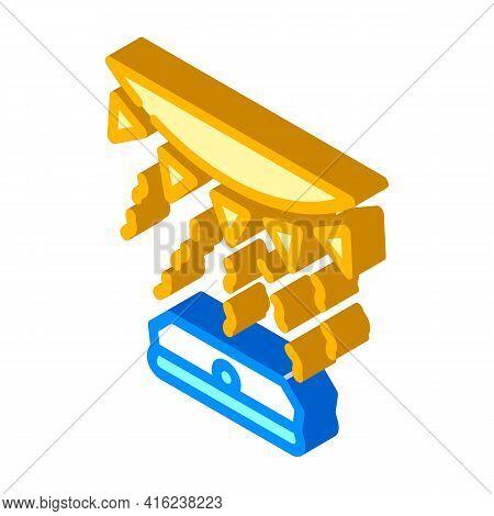 Light Sensor Isometric Icon Vector. Light Sensor Sign. Isolated Symbol Illustration