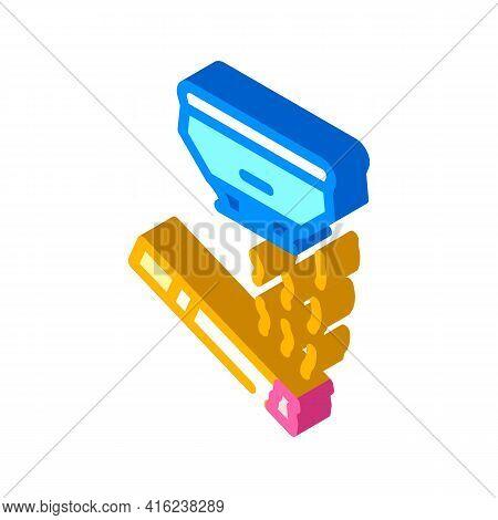 Smoking Sensor Isometric Icon Vector. Smoking Sensor Sign. Isolated Symbol Illustration