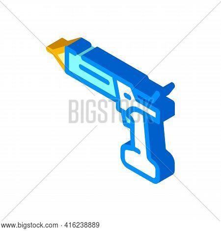 Cordless Sealant Gun Tool Isometric Icon Vector. Cordless Sealant Gun Tool Sign. Isolated Symbol Ill