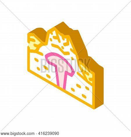 Lava Dome Isometric Icon Vector. Lava Dome Sign. Isolated Symbol Illustration