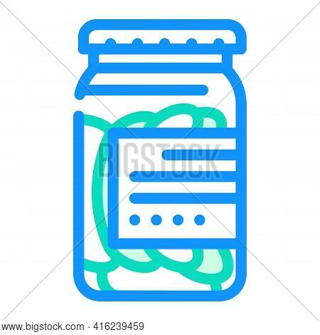Salted Cucumbers Canned Food Color Icon Vector. Salted Cucumbers Canned Food Sign. Isolated Symbol I