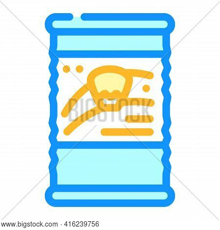 Corn Canned Food Color Icon Vector. Corn Canned Food Sign. Isolated Symbol Illustration