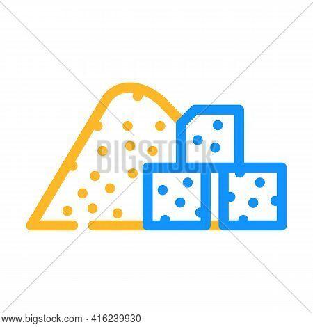 Sugar Food Additives Color Icon Vector. Sugar Food Additives Sign. Isolated Symbol Illustration