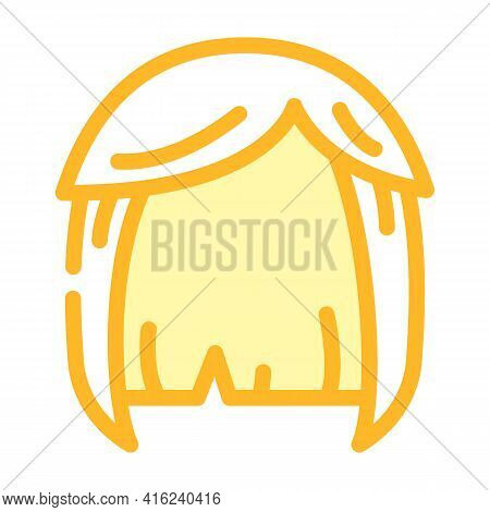 Wig Hair Color Icon Vector. Wig Hair Sign. Isolated Symbol Illustration