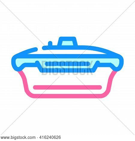Vacuum Lunchbox Color Icon Vector. Vacuum Lunchbox Sign. Isolated Symbol Illustration