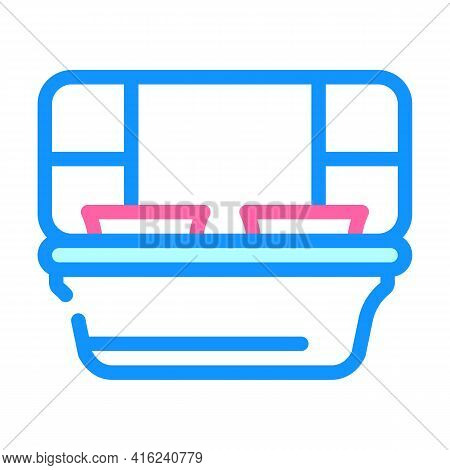 Sections Lunchbox Color Icon Vector. Sections Lunchbox Sign. Isolated Symbol Illustration