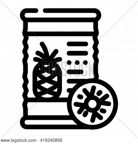 Pineapple Canned Food Line Icon Vector. Pineapple Canned Food Sign. Isolated Contour Symbol Black Il