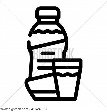 Syrup Canned Food Line Icon Vector. Syrup Canned Food Sign. Isolated Contour Symbol Black Illustrati