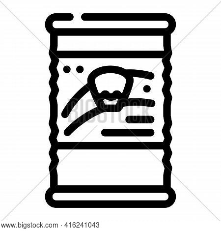Corn Canned Food Line Icon Vector. Corn Canned Food Sign. Isolated Contour Symbol Black Illustration