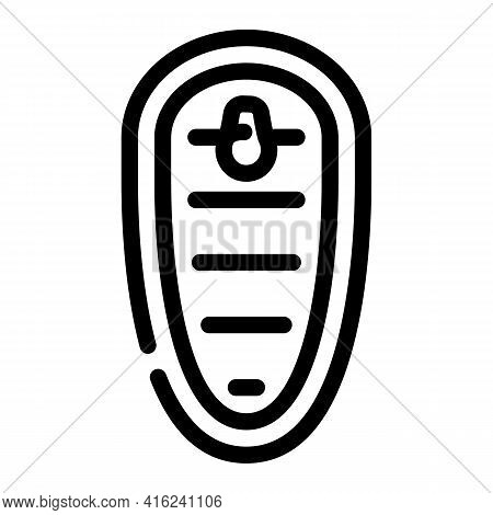 Top View Of Canned Food Line Icon Vector. Top View Of Canned Food Sign. Isolated Contour Symbol Blac
