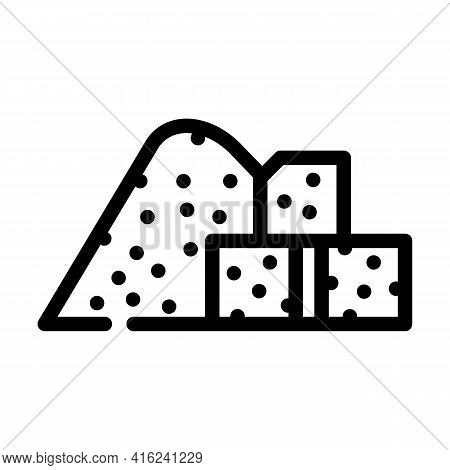 Sugar Food Additives Line Icon Vector. Sugar Food Additives Sign. Isolated Contour Symbol Black Illu