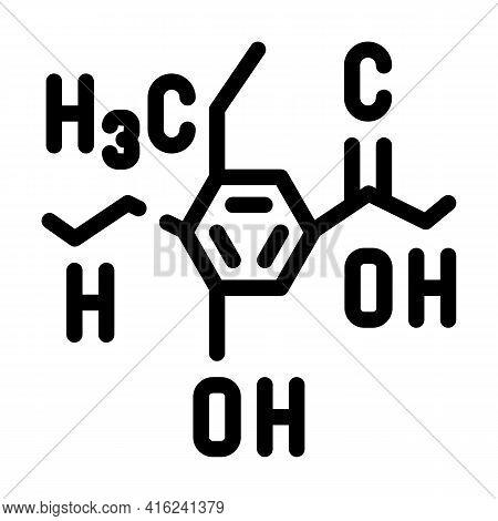 Formula Food Additives Line Icon Vector. Formula Food Additives Sign. Isolated Contour Symbol Black