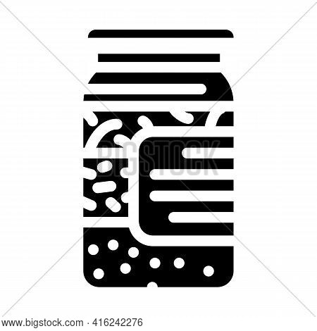 Salted Cucumbers Canned Food Glyph Icon Vector. Salted Cucumbers Canned Food Sign. Isolated Contour