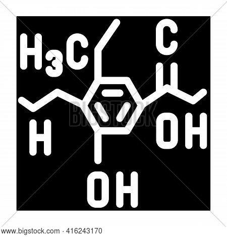 Formula Food Additives Glyph Icon Vector. Formula Food Additives Sign. Isolated Contour Symbol Black