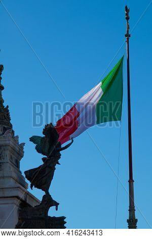 View Of Altare Della Patria Monument, Rome, Italy