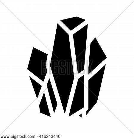 Monosodium Glutamate Msg E621 Glyph Icon Vector. Monosodium Glutamate Msg E621 Sign. Isolated Contou