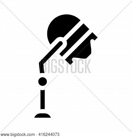 Stationery Hairdyer Glyph Icon Vector. Stationery Hairdyer Sign. Isolated Contour Symbol Black Illus